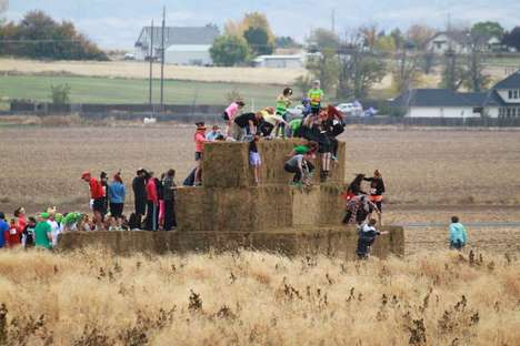 Farmer Obstacle Courses - The Farm Man Challenge Takes Place on a Corn Maze