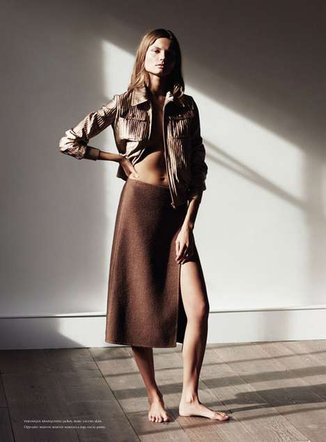 Noticeably Neutral Editorials - The Russh December/January 2015 Temptation Photoshoot is Subdued