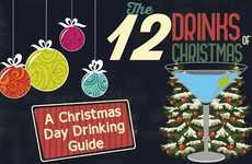 Christmas Cocktail Guides - Revivol's Infographic Provides 12 Holiday Drink Recommendations