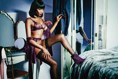 Mysterious Lingerie Lookbooks - The Agent Provocateur Spring/Summer Lookbook Stars a Legend