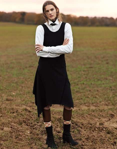 Posh Pastoral Editorials - The Vogue Taiwan Naomi Yang Winter Editorial Features Farm Motifs