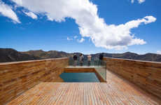 Volcanic Observation Decks - The Quilotoa Crater Overlook Blends with Nature