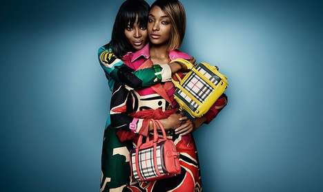 Sisterly Style Campaigns - The Burberry Prorsum Spring Images Feature Sibling-Style Poses