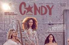 Transgender Celebrity Covers - Several Transgender Women Appear on Candy's Magazine Cover