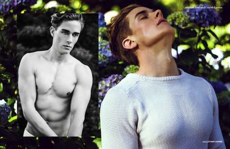 Boyish Botanical Editorials - Male Model Scene's Stuart Exclusive Features Stuart Downie