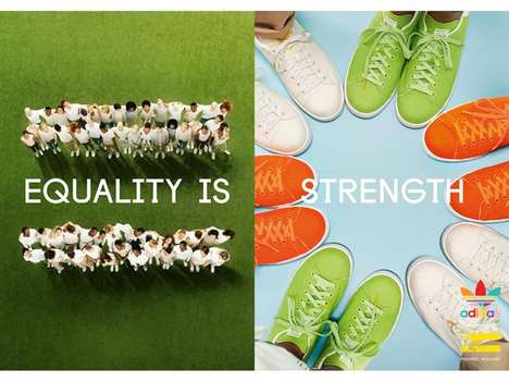 Equality-Espousing Apparel - The Adidas x Pharrell Tennis Pack II Promotes Equality Among All
