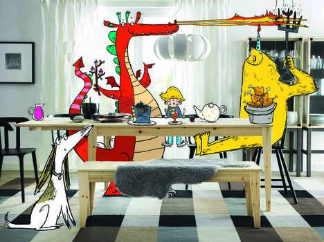Whimsical Mealtime Illustrations - Artist Sarah Home Adds Fun Drawings to IKEA Catalog Pages