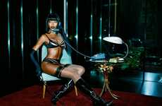 Lingerie-clad Femme Fatales - The Naomi Campbell Agent Provocateur Campaign is Dark and Provocative