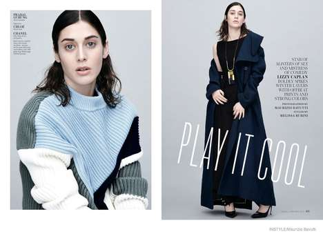 Earnest Celebrity Editorials - The InStyle Magazine Play It Cool Photoshoot Showcases Sincere Looks