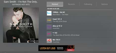 International Streaming Tools - The TuneIn Radio Applications Gives Users Access to Global Channels