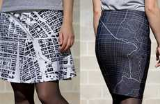 Hometown Displaying Apparel - monochōme Enables You to Wear Custom and Stylized Map Fashion
