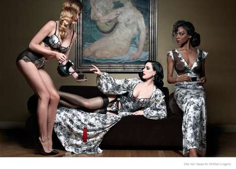 Burlesque Lingerie Lines - The Christian Louboutin X Dita Von Teese Collection is Collaborative