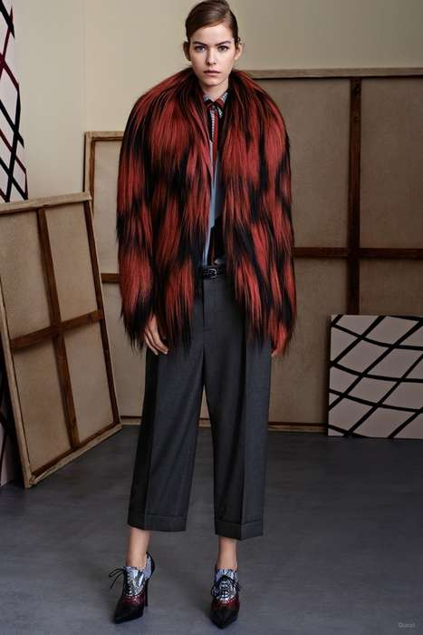 Couture Tomboy Collections - The Gucci Pre-Fall 2015 Line Plays Up on Masculine Motifs and Styles