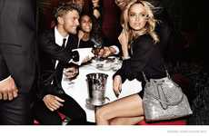 Dapper Dining Campaigns - The Michael Kors Holiday Advertisements Feature Models at Set Tables