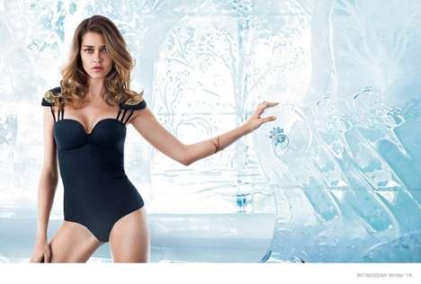Igloo-Bound Advertisements - The Intimissimi Lingerie Campaign Displays Thick Blocks of Ice