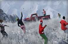 Festive Video Game Updates - Grand Theft Auto V Introduces Snowfighting Options for Christmas
