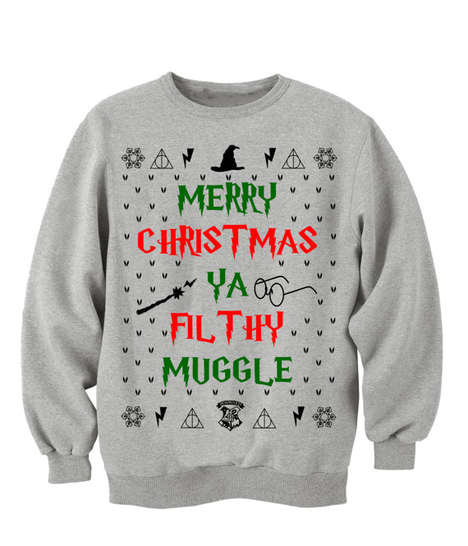 Wizardly Christmas Sweaters - This Harry Potter Christmas Shirt Features an Infamous Quote