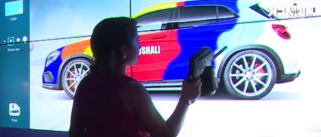 Virtual Car Graffiti - Mercedes' Uses Projection Mapping to Power Virtual Art on Its Cars