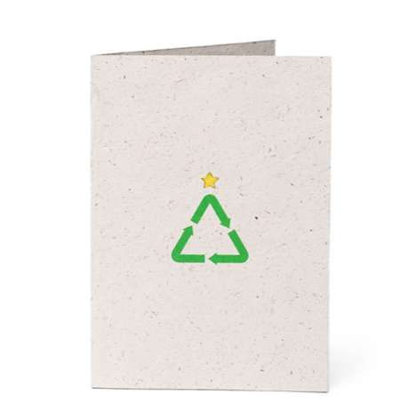 Recycled Evergreen Cards - Wieden + Kennedy's Recycled Christmas Card Use Last Year's Trees