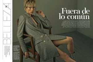 The S Moda Spain Edie Campbell Photoshoot Shows Professional Looks
