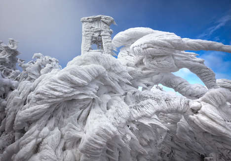 Spectacular Ice Photography - Marko Korosec Captures Frozen Formations on Slovenia's Mount Javornik