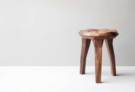 Organically Carved Stools - Jari Devad Designs a Wooden Seat for the '5 Studies for Nature' Project
