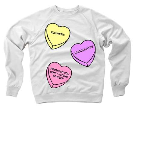 Realistic Valentine Sweaters - This Anti-Romance Sweater Tells Like It Like It is