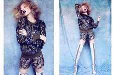 Youthful Disco Diva Photography - Glassbook Magazine's Adeline Editorial Boasts Festive Fashions