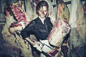 The CR Fashion Book Boucherie Desnoyer Photoshoot Features Meat Hooks