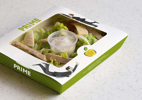 Dynamic Food Packaging - Prime Star's Healthy Food Branding is Quirky and Active
