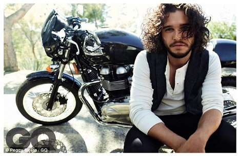 Hunky TV Star Photoshoots - Game of Throne's Kit Harington Stars in GQ's 'Game Boy'