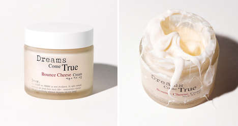 Cheesy Face Creams - The Bounce Cheese Cream is Full of Beneficial Natural Proteins