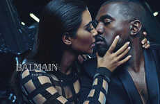 Desirous Celebrity Campaigns - Kanye West and Kim Kardashian's Balmain Ad Has Arrived