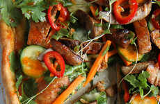 Spicy Asian Pizzas - Heather Christo's Bahn Mi Pizza Fuses Italian and Asian Cuisine
