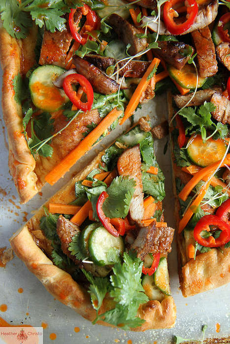 Spicy Asian Pizzas - Heather Christo's Bahn Mi Pizza Fuses Italian and Asian Cuisine
