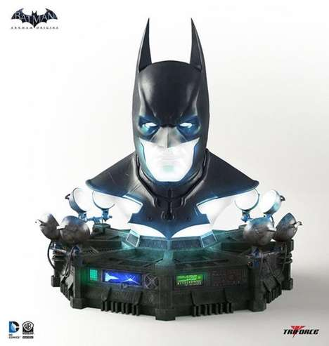 Replica Superhero Cowls - This Batman Mask is a Life-Size Replica That Lights Up