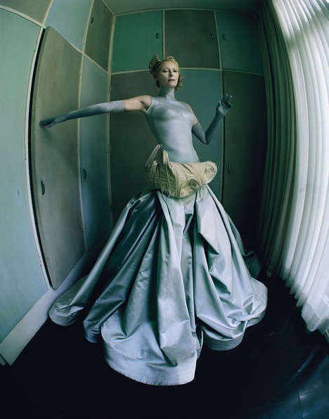 Dreamlike Designer Editorials - The Surreal World W Magazine Photoshoot Challenges Our Perception