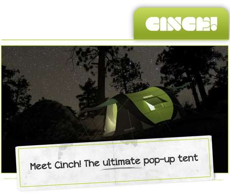 Ultimate Pop-Up Tents - Cinch by Jake Jackson Boasts Solar Power and LED Capabilities
