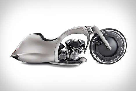 Wheel-Encased Superbikes - The Full Moon Concept Motorcycle is Sleek and Futuristic