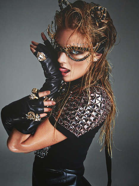 Couture Costume Editorials - The Numero Magazine Greg Kadel Photoshoot Displays Chic Dress Up Looks