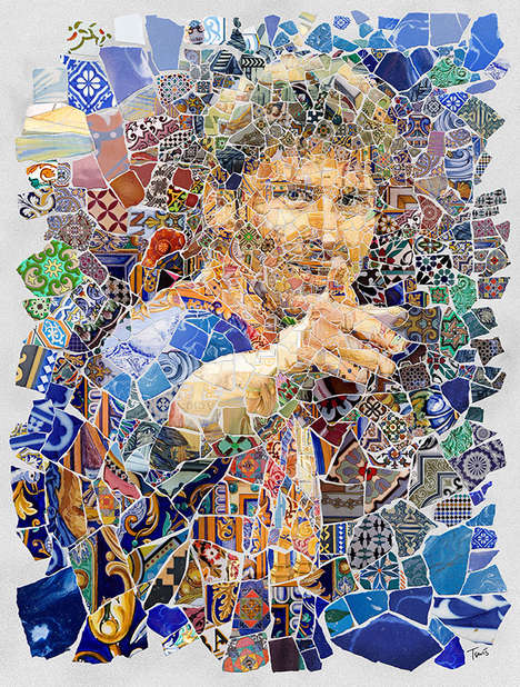 Soccer Player Mosaics - Lionel Messi by Charis Tsevis is an Artistic Tribute to Sports and Spain