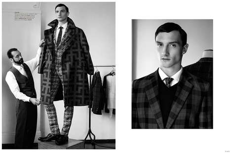 Faux Fitting Editorials - The Latest Plaza Uomo Photoshoot Display Bespoke Imagery