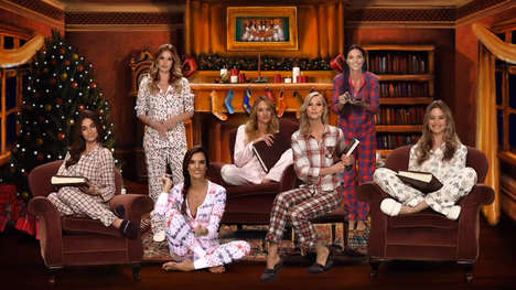 Seductive Christmas Story Spins - The Victoria's Secret Holiday Campaign is a Twist on a Classic