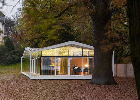 Scenic Study Pavilions - This Lakeside Study Spot is in the Perfect Location for Contemplation