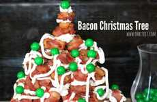 Bacon Christmas Trees - Oh, Bite It! Creates an Unorthodox Holiday Dish and Decoration