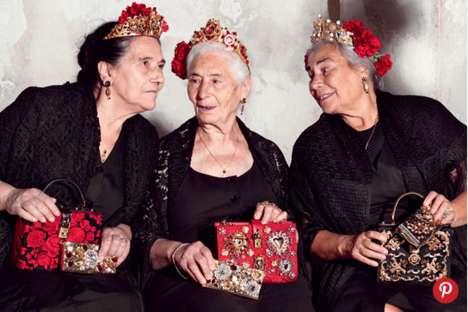Nonna Fashion Ads - The Dolce & Gabbana Campaign Star Scene-Stealing Grandmothers