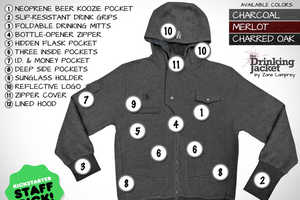 The Drinking Jacket is Equipped for the Ultimate Party Experience