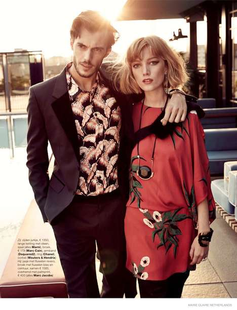 Date Night Editorials - The Marie Claire Netherlands Hans van Brakel Photoshoot is Coupled Off