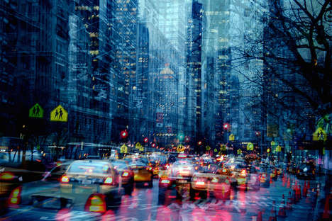 Surreal Superimposed Cityscapes - Urban Melodies by Alessio Trerotoli is Full of Hypnotic Layers