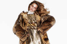 Modern Metallic Editorials - The Harper's Bazaar China Julia Frauche Photoshoot Glistens Throughout